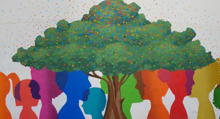 Mural sobre el respeto a la diversidad cultural cortesía de la SHANE